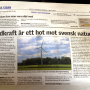 Vindkraft belastar svensk natur