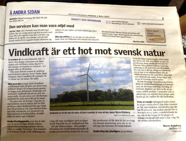 Vindkraft  hotar svensk natur
